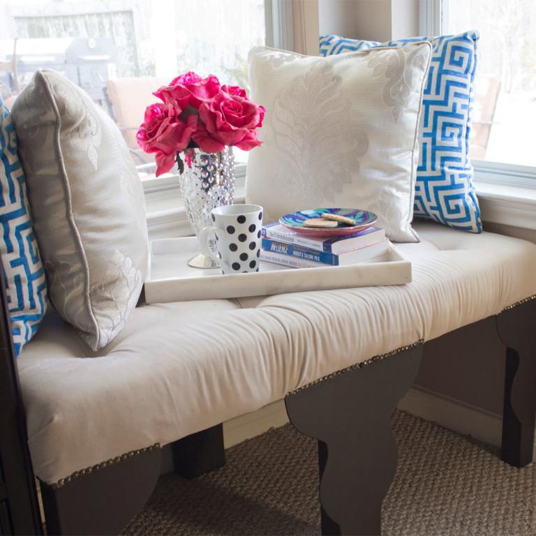 ikea hack lack table transforms to diy bench angela east. Black Bedroom Furniture Sets. Home Design Ideas