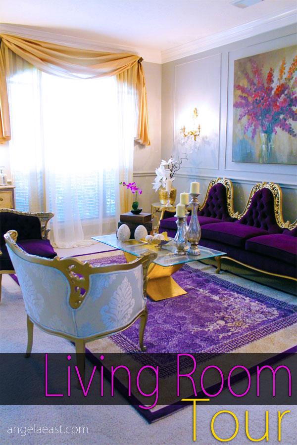 Living Room Tour #homedecor #baroqueinterior #glam with Angela East at angelaeast.com