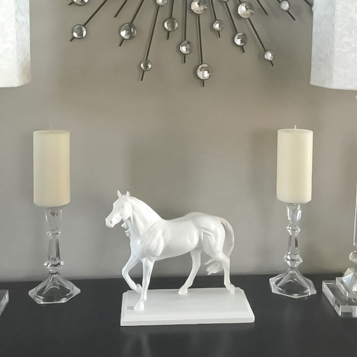 Home Decor DIY | White Horse Statue | Home Decor on Budget | DIY Home | Horses | Inexpensive Home Decor