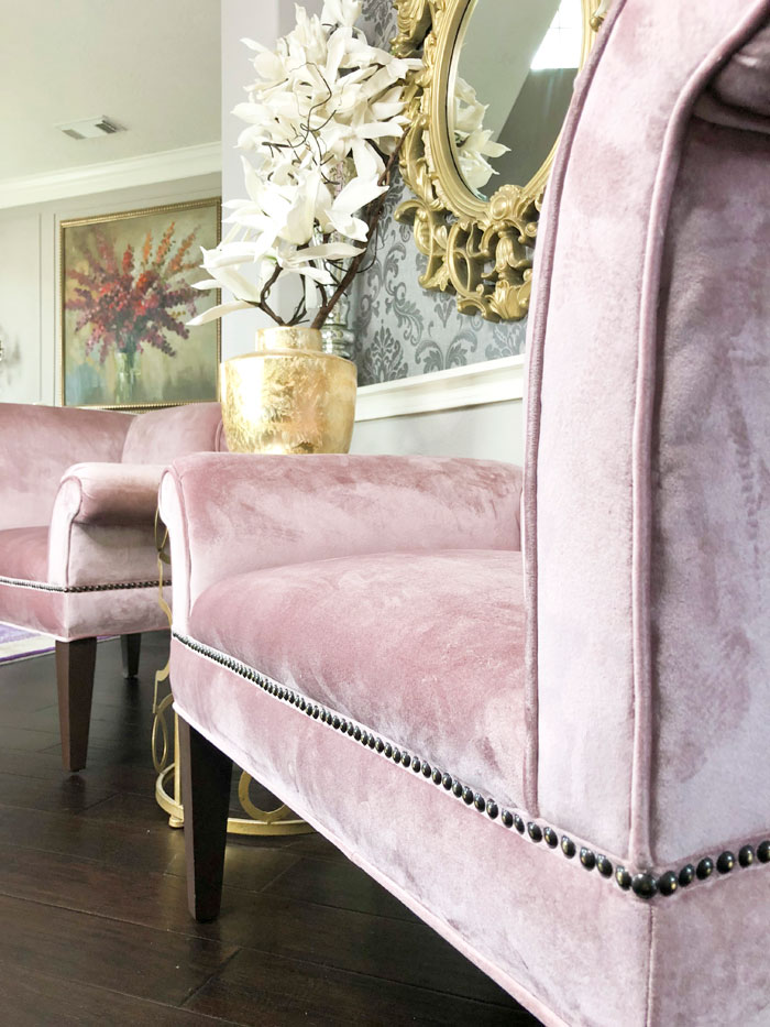Blush Velvet Armchair